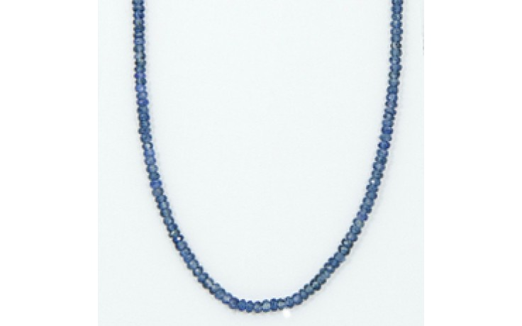 3.5-4mm Blue Sapphire Faceted Rondelle Beads Necklace Perfect Gift Sapphire Sparkling Women/'s Necklace Blue Sapphire Beaded Necklace